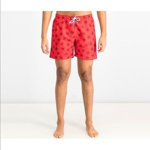 NWT! Trunks San O Red Swim Trunks Size Medium
